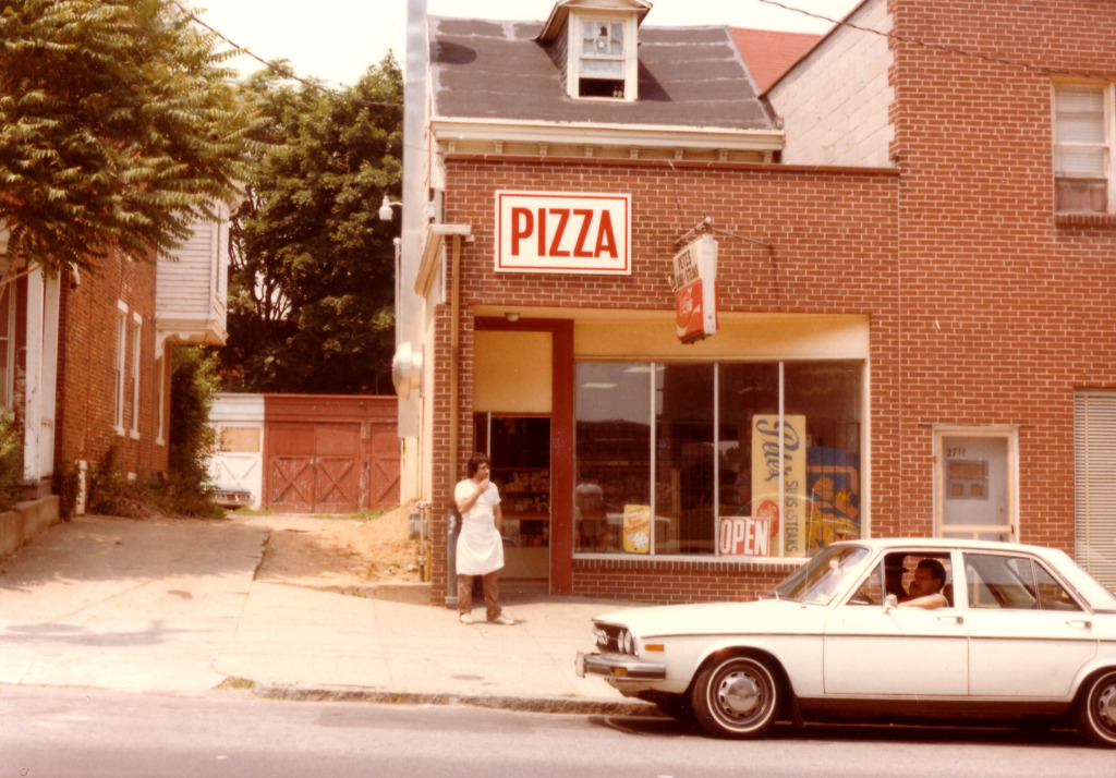 pizza shop outside 70s