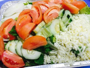 garden salad with cheese