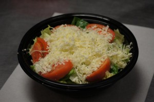 garden salad with shreded cheese