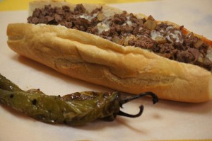 cheesesteak and homemade hots