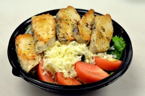 garden salad with cheese and grilled chicken